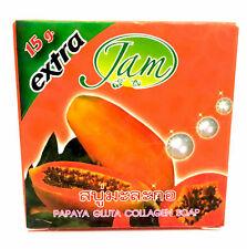 Thai Herbal Papaya Extract Pearl Powder Soap Collagen Whitening Soft Skin Care