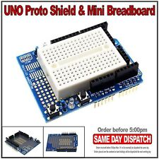Arduino UNO prototyping Prototype Shield Protoshield with mini breadboard