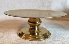 Large Partylite Savoy Plate Brass Candle Holder - Candlestick - Shiny with Box