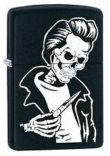 Zippo Rockabilly Skull Black auf Wunsch mit persönlicher Gravur 60002620 Neu