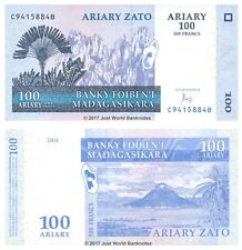 MADAGASCAR 100 Ariary 2004 (2016) P-NUOVE BANCONOTE UNC