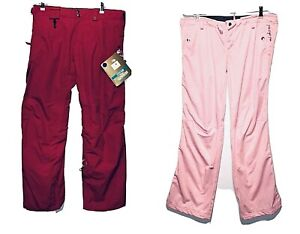 686 Women's Smarty 3-in-1 Cargo Lowrise Ski/Snowboard Pants Rose Red Large