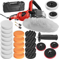 Car Polisher Sander Polishing Machine 0-3000 rpm 1400 Watt + Big Sponge Set