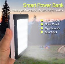 600000mAh Portable Smart Solar Power Bank Dual USB 20 LED Backup Charger Battery