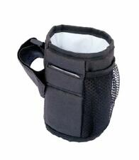 Pushchair Stroller Buggy Cup Baby Bottle Drink Holder Insulated Black New