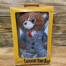 Vintage Talking Executive Teddy Bear NEW Made in Japan
