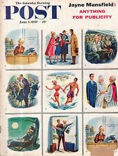 1957 Saturday Evening Post June 1 - Depoe Bay OR; Jayne Mansfield; NY Yankees