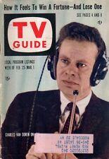 1957 TV Guide February 23-Van Doren wins $64000 Question; Boing-Boing; Tom Tully