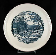 CURRIER and IVES by Royal China Hostess Cake Plate- 10 1/2 inch