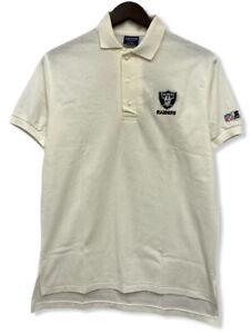 Vtg Starter Oakland Raiders NFL Pro Line NWT Deadstock Men's Sz L Polo Shirt USA