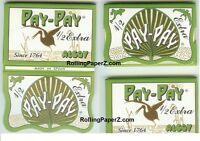 5X Packs of Pay-Pay Hemp Cigarette Rolling Papers 1 1/2 size 33 leaves per Pack