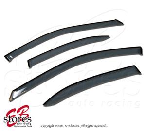 For Chevrolet Cobalt 2005-2010 Outside-Mounted Ash Grey JDM Window Visors 4pcs