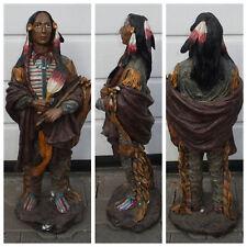 Grosse - Indianer - Figur - Skulpur - Statue - Dekofigur - Lebensecht -Häuptling