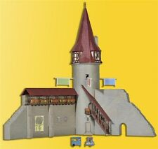 Kibri 37364 City Wall with Round Tower, Kit,N