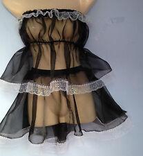 organza Camisole Starter Bra + skirt french maid cosplay sissy fetish Cd Tv