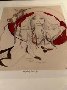 Stevie Nicks RARITY ORIGINAL PAINTING By STEVIE AUTOGRAHED TWICE