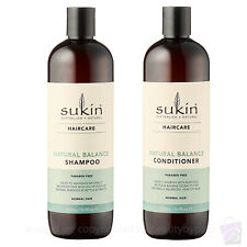 Sukin Natural Balance SHAMPOO AND CONDITIONER for Normal Hair DUO SET 500ml
