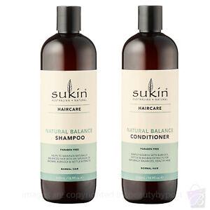 Sukin Natural Balance SHAMPOO AND CONDITIONER for Normal Hair DUO SET 500ml