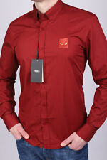 BRAND NEW RED FENDI SLIM FIT MEN'S SHIRT SIZE XL