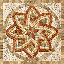 Rosoni rosone mosaico in marmo su rete per interni esterni 66x66 FLORIUM NOCE