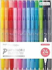 Tombow Play Color 2 Water Based Drawing Marker Pen 24 Color Set GCB-012 Japan
