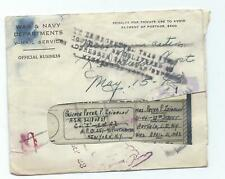 WWII US ARMY POW Return to Sender V-MAIL 1st Armored Division 1943