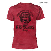 Official T Shirt GMG Gas Monkey Garage 'CUSTOM Hot Rods' Vintage Red All Sizes