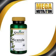 Swanson Premium Acerola 500mg 60 Capsules Naturel Vitamine C Source
