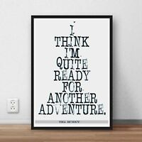 The Hobbit JRR Tolkien quote wall art print poster lord of the rings