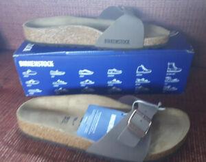 Birkenstock mocha madrid size 5 slider Sandals Flip Flop