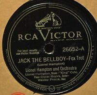 Lionel Hampton Jack the Bellboy 78 RCA 26652 Jazz Boogie Cental Ave Breakdown