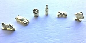 Monopoly Empire Edition All 6 Gold Tokens Replacement Pieces Charms Movers