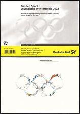 Bund Markenheftchen 47 gest. Sporthilfe 2002 Olympische Winterspiele  ESST