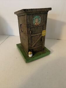 Gemmy Santa's Farting Outhouse Lights up Santa says 10 Fart Humor phases RARE