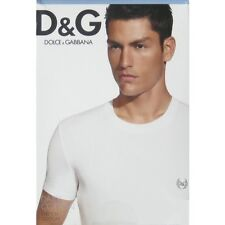 NIB Dolce & Gabbana D & G Daily Cotton Blue Round Neck T-Shirt - XS - FINAL SALE