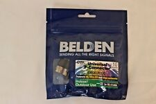 50-Pack Belden Universal F-Connector Chrome/Black Crimp-on for RG-6 *EX6XLPLUS*