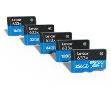 Lexar 633X 256GB 128GB 64GB 32GB 16GB micro SD SDHC SDXC HD 4K Card Lot 95MB/s