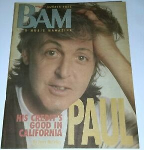 BAM MAGAZINE PAUL MCCARTNEY 90' ROCK METAL HAIR BAND LA WINGS NIGHT CLUB Beatles