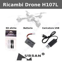 Ricambi DRONE Hubsan ORIGINALI X4 H107L eliche batterie caricatore usb camera