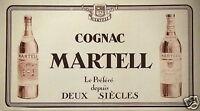 PUBLICITÉ 1931 COGNAC MARTELL LE PRÉFÉRÉ DEPUIS DEUX SIÈCLES  - ADVERTISING