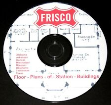 St Louis San Francisco Frisco Floor Plans of Station Buildings PDF Pages on DVD