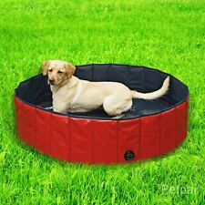 PETPAI 160x30cm Doggy Pool für Hunde Planschbecken Schwimmbecken Schwimmbad Rot