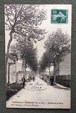 CPA. FONTENAY TRÉSIGNY. 77 - Avenue de la Gare. 1909.