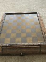 Vintage Chess Set With Board Wood Bakelite Made In Italy