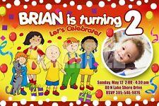 CAILLOU BIRTHDAY PARTY INVITATION PHOTO CARD INVITE - C4