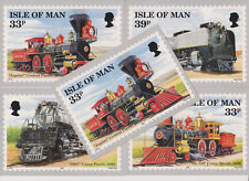 ISLE OF MAN POSTCARDS PHQ CARDS NO 10 1992 FULL SET MINT UNION PACIFIC RAILROAD
