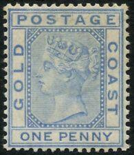 Gold Coast SG 5 1d Blue Mounted Mint Cat £45.00