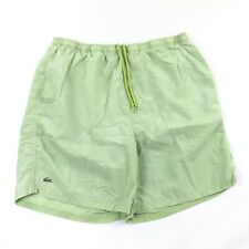 5b60b9861d205 Lacoste Shorts Mens XL Swim Trunks Green Nylon Alligator Logo Pockets  Drawstring