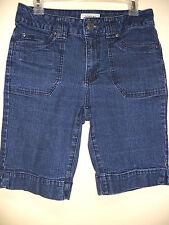 St. John's Bay Stretch Blue Jeans Denim Capris Shorts sz 8 Very nice condition!