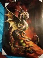 Anne Stokes canvas print of Desert Dragon